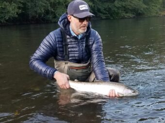 Fly fishing for steelhead on the Klickitat River